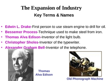 The Expansion of Industry-Chp.6,Sec.1