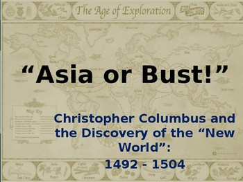 PowerPoint - The Explorations of Christopher Columbus: 1492-1504