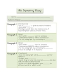Expository Essay: Graphic Organizer & Cloze Notes