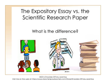 the expository essay vs the scientific research paper no prep  originaljpg
