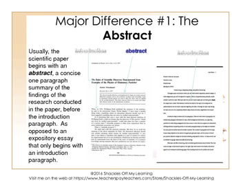 The Expository Essay Vs The Scientific Research Paper No Prep  The Expository Essay Vs The Scientific Research Paper No Prep   Minilesson
