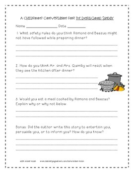 The Extra-Good Sunday Activities 3rd Grade Journeys: Unit 3, Lesson 15
