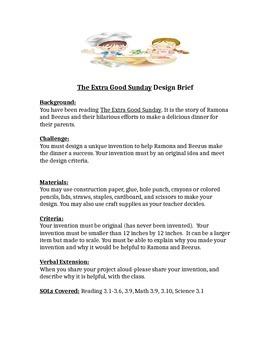 The Extra Good Sunday STEM Children's Engineering Design Brief