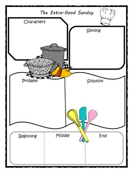 The Extra-Good Sunday Story Map Graphic Organizer
