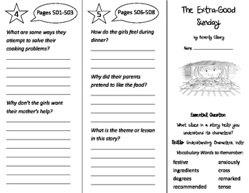 The Extra Good Sunday Trifold - Journeys 3rd Grade Unit 3 Week 5 (2011)