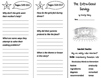 The Extra Good Sunday Trifold - Journeys 3rd Grade Unit 3 Week 5 (2014, 2017)
