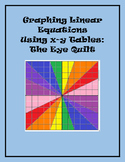 Graphing Linear Equations Using x-y Tables - Eye Quilt