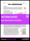 Eye Anatomy - Structure & Function of Vision (HS-LS1-A)