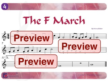 The F March Flute And Oboe MP3 And PDF Unit 4.