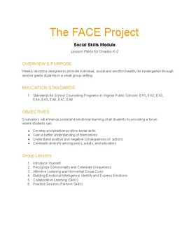 The FACE Project K-2 Social Skills Module