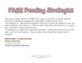 The FACE of a Reader (adapted from CAFE)