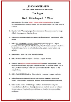 Music Form: The FUGUE: Bach's 'Little' Fugue in G Minor
