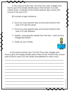 The FUN They Had--Writing Prompt-Journeys Grade 4--Lesson 25