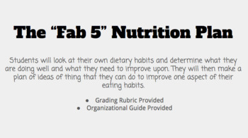 """The """"Fab 5"""" Nutrition Plan"""
