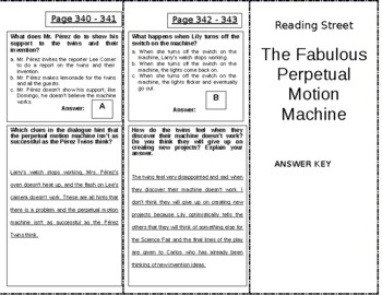 The Fabulous Perpetual Motion Machine - 5th Grade Reading Street