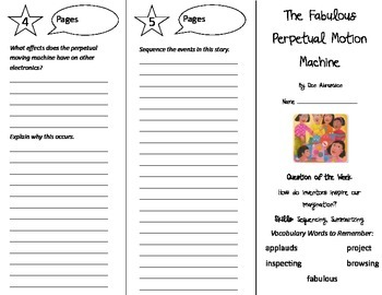 The Fabulous Perpetual Motion Machine Trifold - Reading St 5th Gr Unit 3 Week 1