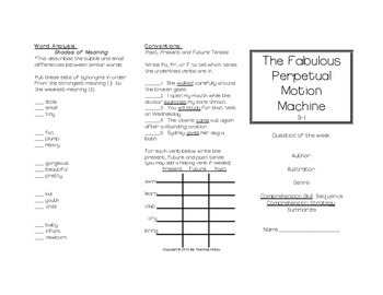 The Fabulous Perpetual Motion Machine Trifold (Reading Street 2011 Edition)