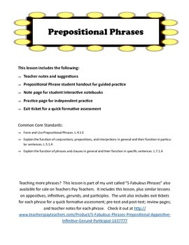 The Fabulous Prepositional Phrase