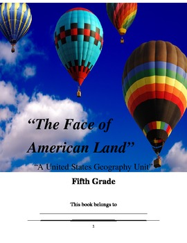 """The Face of American Land: A Unit in United States Geography"""