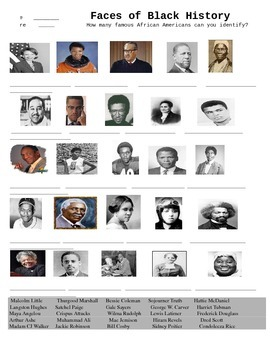 The Faces of Black History