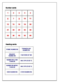 The Factors And Multiples Puzzle