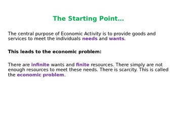 The Factors of Production - Microeconomics - PPT & Worksheet