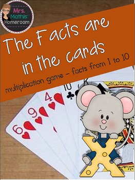 The Facts are in the Cards - Multiplication Game, Facts 1 to 10