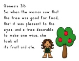 The Fall of Eve  Genesis 3:6 and MOH Time Line Cards