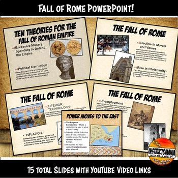 The Fall of Roman Empire Powerpoint by Instructomania with ...