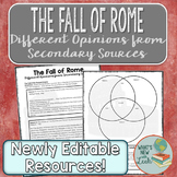 The Fall of Rome Different Opinions from Secondary Sources