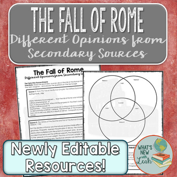 The Fall of Rome: Different Opinions from Secondary Sources
