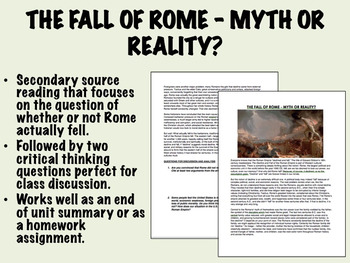 The Fall of Rome - Myth or Reality? - Global/World History