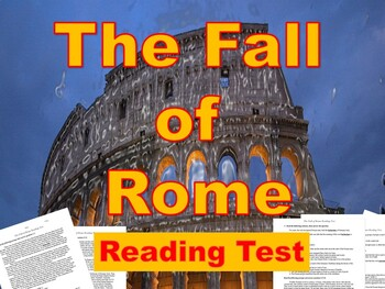 The Decline and Fall of the Roman Empire Reading Test