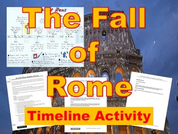The Fall of Rome Timeline A... by Josh Lafferty | Teachers Pay ...