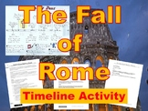 The Fall of Rome Timeline Activity