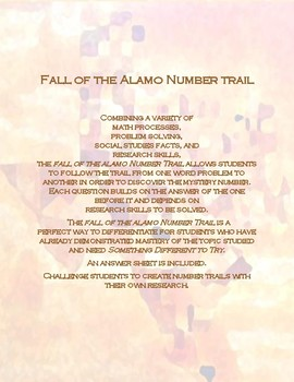The Fall of the Alamo Number Trail