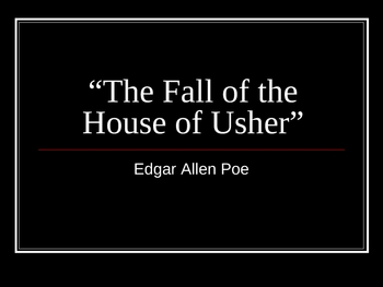 """The Fall of the House of Usher"" Quiz"