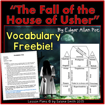 The Fall of the House of Usher Vocabulary Freebie