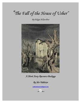"""""""The Fall of the House of Usher"""" by Edgar Allan Poe: 94 Page Short Story Package"""