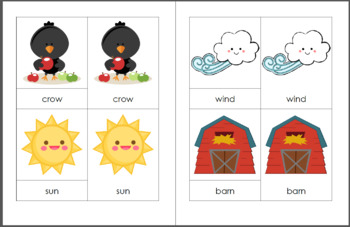 The Falling Leaves and the Scarecrow Vocabulary Pack