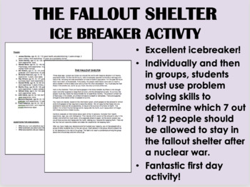 The Fallout Shelter icebreaker Activity