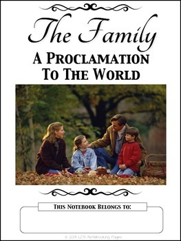 The Family: A Proclamation To The World Copywork Notebook