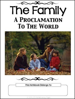 The Family: A Proclamation To The World Copywork Notebook - Manuscript