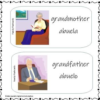 The Family Flashcards - Las Tarjetas De La Familia