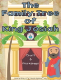The Family Tree of King Josiah Chart and Worksheet