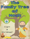 The Family Tree of Noah Chart and Worksheet