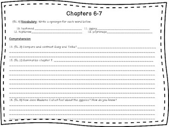The Family Under the Bridge CCSS Literature Packet