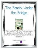 The Family Under the Bridge Comprehension Questions