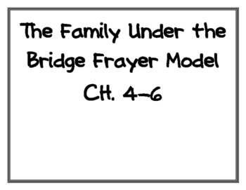 The Family Under the Bridge Frayer Model Vocabulary Pages