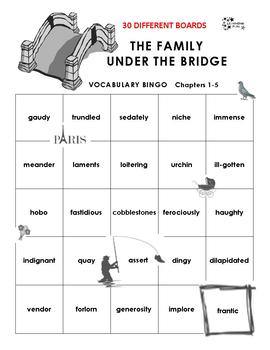 The Family Under the Bridge Vocabulary Bingo